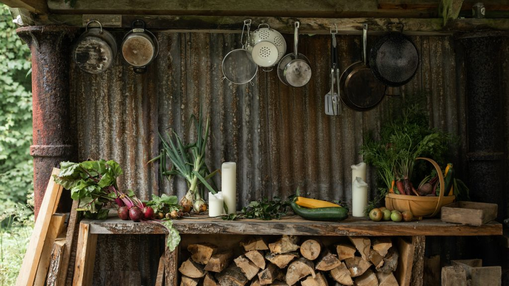 Outdoor cooking at Boconnoc